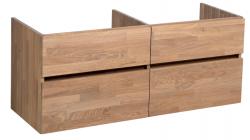 Stern Wood massief eiken wastafelonderkast 120x46cm - 4 laden 1208913462