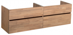 Stern Wood massief eiken wastafelonderkast 160x46cm - 4 laden 1208913472