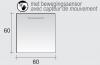 Aquadesign Bergo spiegel met LED verlichting 60x60cm - sensorschakelaar 1208913642