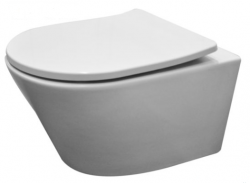 Aquadesign Montreal wandtoilet rimless mat wit incl softclose zitting 1208913652