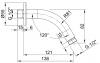 Rubio Inox hoofddouche 9cm met muurarm volledig RVS 1208915622