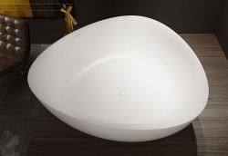 Riho Oviedo From Scratch vrijstaand bad driekhoek 160x160 solid surface wit BS50
