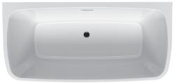 RIHO Adore semi vrijstaand acryl bad 180x86, wit, incl. pootset/badafvoer 1208915892