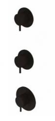 Waterevolution Flow inbouw douchethermostaat met 2 stopkranen mat zwart 1208916222