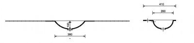 MAATWERK Solid-S Grunne solid surface vrijhangende wastafel mat wit 1208917556