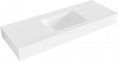 MAATWERK Solid-S Boston solid surface vrijhangende wastafel mat wit 1208917556