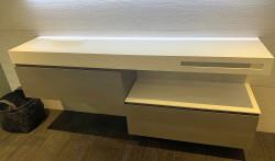 MAATWERK Solid-S Coff solid surface vrijhangende wastafel mat wit 1208917798
