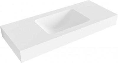 MAATWERK Solid-S Chicago solid surface vrijhangende wastafel mat wit 1208917798
