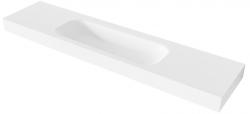 MAATWERK Solid-S Soft 93 solid surface vrijhangende wastafel mat wit 1208917800