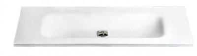 MAATWERK Solid-S Big medium solid surface vrijhangende wastafel mat wit 1208917800