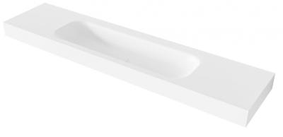 MAATWERK Solid-S Soft 112 solid surface vrijhangende wastafel mat wit 1208917805