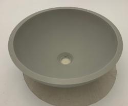Solid-S Pure opbouwwastafel kom rond mat licht grijs B41xH14cm zonder overloop 1208919566