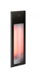 Sunshower Pure mat zwart inbouw half body 1x 1250W infrarood lamp 19.9x10x61.9cm 80063