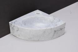 Forzalaqua TURINO marmeren fontein Carrara marmer gepolijst met kraangat 30x30x10cm 100429