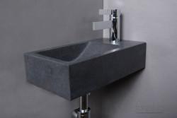 Forzalaqua VENETIA fontein graniet gezoet 40x22x10cm met kraangat rechts 8010251