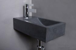 Forzalaqua VENETIA fontein graniet gezoet 40x22x10cm met kraangat links 8010252