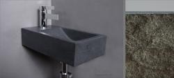 Forzalaqua VENETIA fontein graniet gekapt 40x22x10cm met kraangat links 8011210