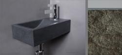 Forzalaqua VENETIA fontein graniet gekapt 40x22x10cm geen kraangat rechts 8011318