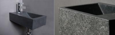 Forzalaqua VENETIA fontein graniet gebrand 40x22x10cm geen kraangat links 8011312