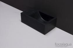 Forzalaqua VENETIA xs fontein graniet gezoet links 29 x 16 x 10 cm geen kraangat links 8010289