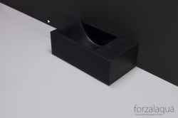 Forzalaqua VENETIA xs fontein graniet gezoet rechts 29 x 16 x 10 cm geen kraangat rechts 8010290