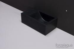 Forzalaqua VENETIA xs fontein graniet gezoet links 29 x 16 x 10 cm met kraangat links 8010293