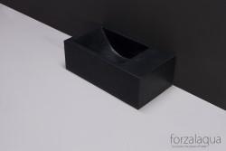 Forzalaqua VENETIA xs fontein graniet gezoet rechts 29 x 16 x 10 cm met kraangat rechts 8010294