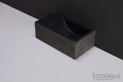 Forzalaqua VENETIA xs fontein graniet gebrand links 29 x 16 x 10 cm met kraangat links 8010295