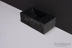 Forzalaqua VENETIA xs fontein graniet gekapt rechts 29 x 16 x 10 cm geen kraangat rechts 8010313