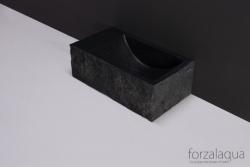 Forzalaqua VENETIA xs fontein graniet gekapt links 29 x 16 x 10 cm geen kraangat links 8010312