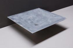 Forzalaqua Milano opbouw opzetkom vierkant cloudy marmer gezoet 45 x 45 x 12 cm zonder overloop 100015