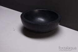 Forzalaqua Roma opbouw opzetkom rond antraciet graniet gezoet 40 x 15 cm zonder overloop 8010234