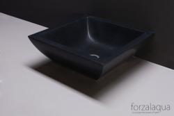 Forzalaqua Siracusa opbouw opzetkom vierkant antraciet graniet gezoet 40 x 40 x 15 cm zonder overloop 8010236