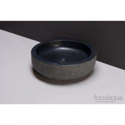 Forzalaqua Verona opbouw opzetkom rond antraciet graniet gebrand 40 x 12 cm zonder overloop 8010298