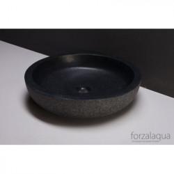 Forzalaqua Verona XL opbouw opzetkom rond antraciet graniet gezoet gebrand 50 x 12 cm zonder overloop 8010250
