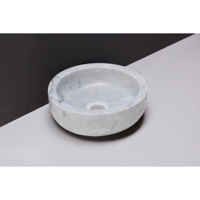 Forzalaqua Verona XS marmeren opbouw opzetkom rond Carrara marmer gepolijst 30 x 10 cm zonder overloop 100442