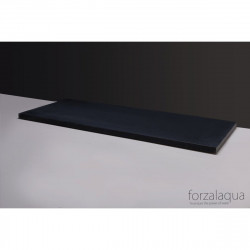 Forzalaqua Plateau wastafelblad antraciet graniet gezoet 120,5 x 51,5 x 3 cm met opening 8010328