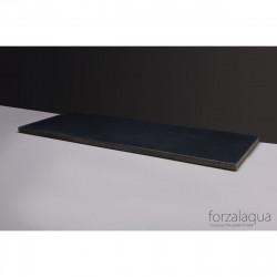 Forzalaqua Plateau wastafelblad antraciet graniet gebrand 140,5 x 51,5 x 3 cm met twee openingen 8010348