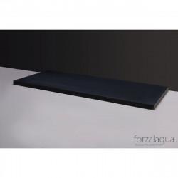 Forzalaqua Plateau wastafelblad antraciet graniet gezoet 60,5 x 51,5 x 3 cm met opening 8010321