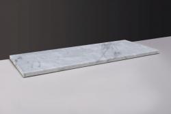 Forzalaqua Plateau marmeren wastafelblad Carrara marmer gepolijst 60,5 x 51,5 x 3 cm zonder opening 400137