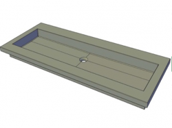 Forzalaqua NOVA meubelwastafel graniet gezoet 100,5 x 51,5 x 9.5 cm zonder kraangat 8010363