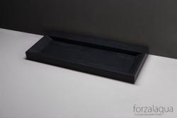 Forzalaqua BELLEZZA wastafel antraciet graniet gezoet 120,5 x 51,5 x 9 cm geen kraangat 8010307