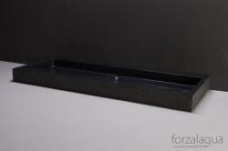 Forzalaqua Palermo wastafel graniet gebrand 120,5 x 51,5 x 9 cm zonder kraangat 8010273