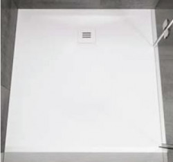 Riho douchevloer solid surface 90x120cm mat wit 1208920487