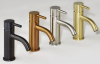 Rubio inox beker verstelbare sifon volledig rvs kleur PVD Gun Metal 1208920710