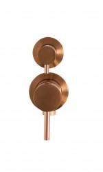 Rubio Inox inbouw mengkraan voor douche of bad met 2-weg omsteller PVD kleur geborsteld koper 1208920714