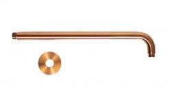 Rubio Inox douchearm 400mm RVS rond in PVD kleur Geborsteld koper 1208920720