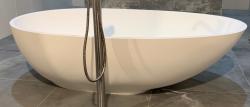 Solid-S Bath solid surface vrijstaand ligbad a-symetrisch 176,5x101x51cm wit mat 1208920891