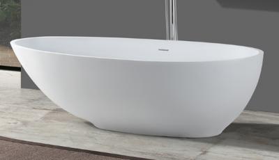 Solid-S Bath solid surface vrijstaand ligbad a-symetrisch 176,5x101x51cm mat wit 1208920891