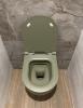 Flavio Murano rimless wandtoilet mos groen incl. softclose zitting en quickrelease 1208920966
